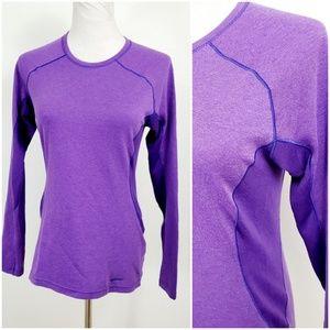 Patagonia XS Top Base Layer Purple Long Sleeve